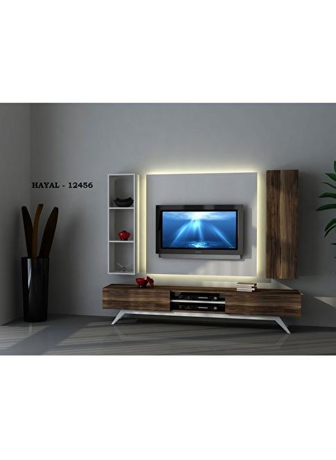 Sanal Mobilya Tv Ünitesi Beyaz